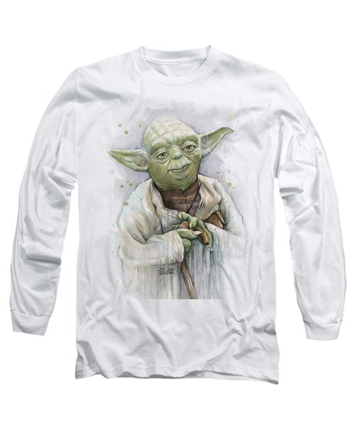 Yoda Long Sleeve T-Shirt by Olga Shvartsur