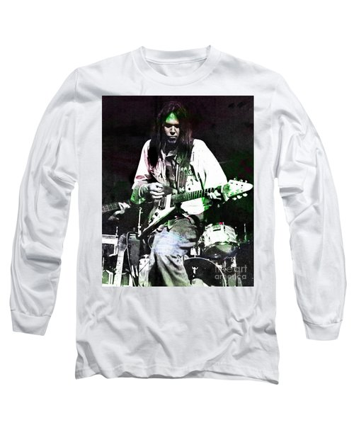 Young Neil Long Sleeve T-Shirt by John Malone
