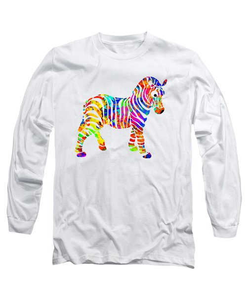 Zebra Long Sleeve T-Shirt by Christina Rollo