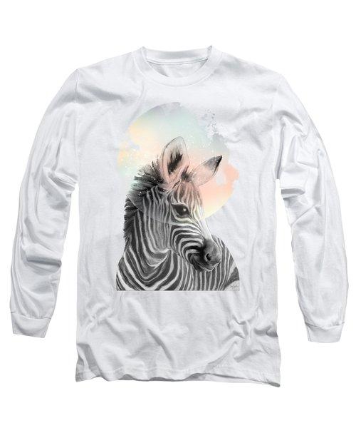 Zebra // Dreaming Long Sleeve T-Shirt by Amy Hamilton