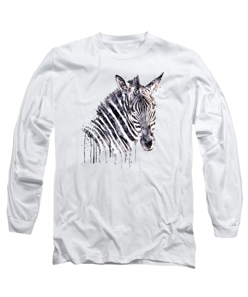Zebra Head Long Sleeve T-Shirt by Marian Voicu