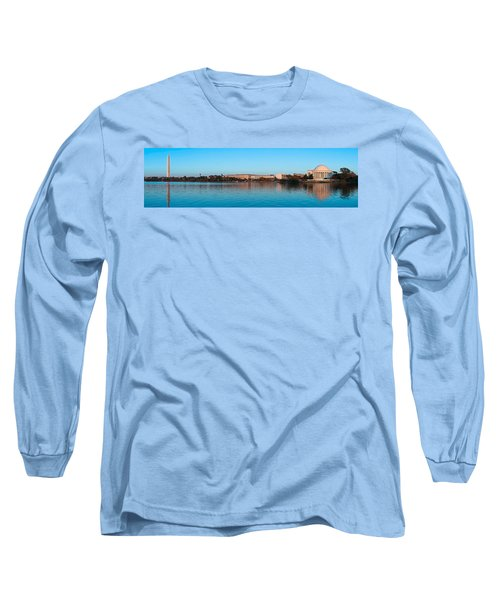 Jefferson Memorial And Washington Long Sleeve T-Shirt by Panoramic Images