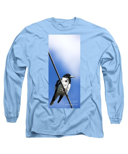 Magpie Up High Long Sleeve T-Shirt by Jorgo Photography - Wall Art Gallery