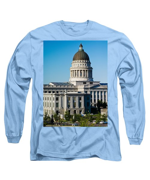 Utah State Capitol Building, Salt Lake Long Sleeve T-Shirt by Panoramic Images