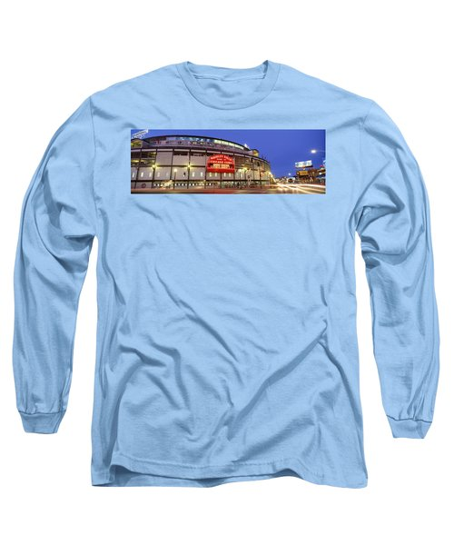 Usa, Illinois, Chicago, Cubs, Baseball Long Sleeve T-Shirt by Panoramic Images