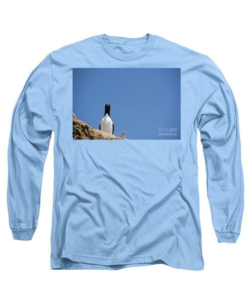 A Curious Bird Long Sleeve T-Shirt by Anne Gilbert