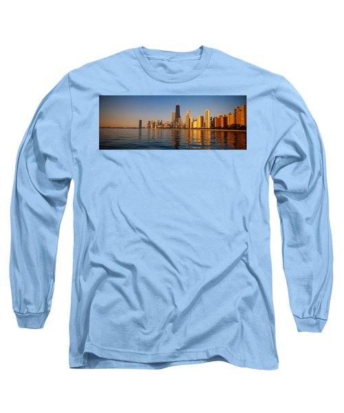 Buildings On The Waterfront, Chicago Long Sleeve T-Shirt by Panoramic Images