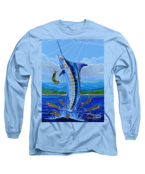 Caribbean Blue Off0041 Long Sleeve T-Shirt by Carey Chen