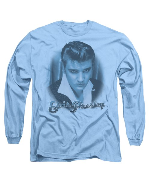 Elvis - Blue Suede Fade Long Sleeve T-Shirt by Brand A