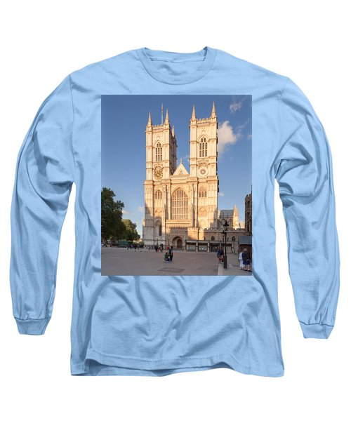 Facade Of A Cathedral, Westminster Long Sleeve T-Shirt by Panoramic Images