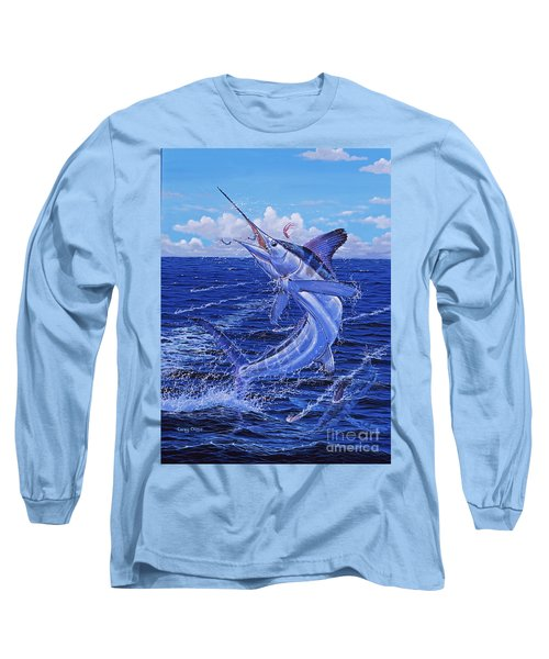 Flat Line Off0077 Long Sleeve T-Shirt by Carey Chen