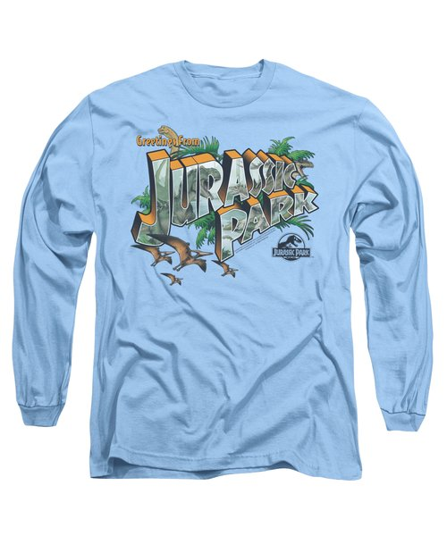 Jurassic Park - Greetings From Jp Long Sleeve T-Shirt by Brand A
