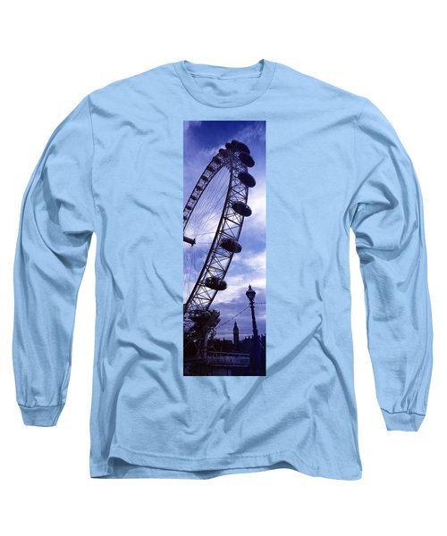 Low Angle View Of The London Eye, Big Long Sleeve T-Shirt by Panoramic Images