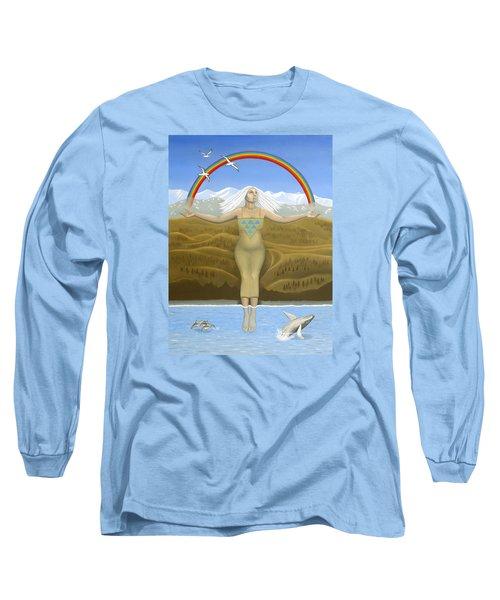 Papatuanuku / Capricorn Long Sleeve T-Shirt by Karen MacKenzie