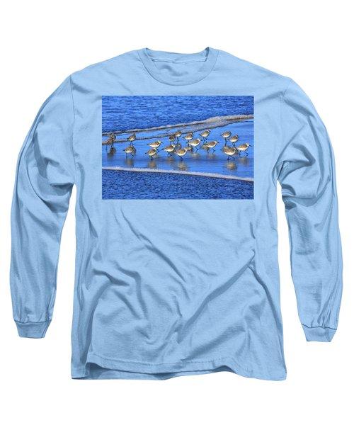 Sandpiper Symmetry Long Sleeve T-Shirt by Robert Bynum