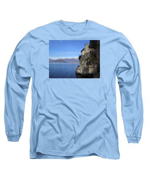 Long Sleeve T-Shirt featuring the photograph Santa Caterina - Lago Maggiore by Travel Pics