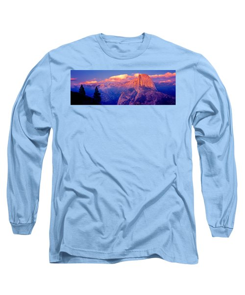 Sunlight Falling On A Mountain, Half Long Sleeve T-Shirt by Panoramic Images