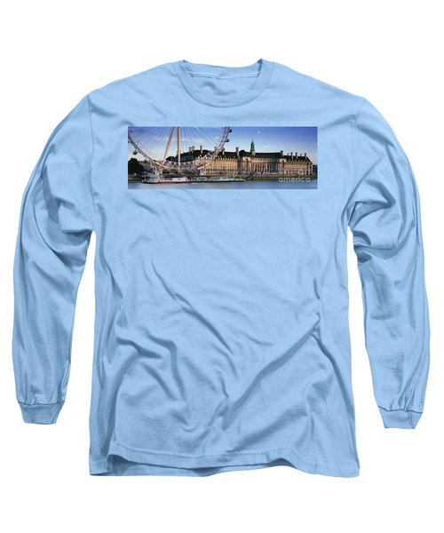 The London Eye And County Hall Long Sleeve T-Shirt by Rod McLean