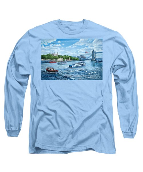 The Tower Of London Long Sleeve T-Shirt by Steve Crisp
