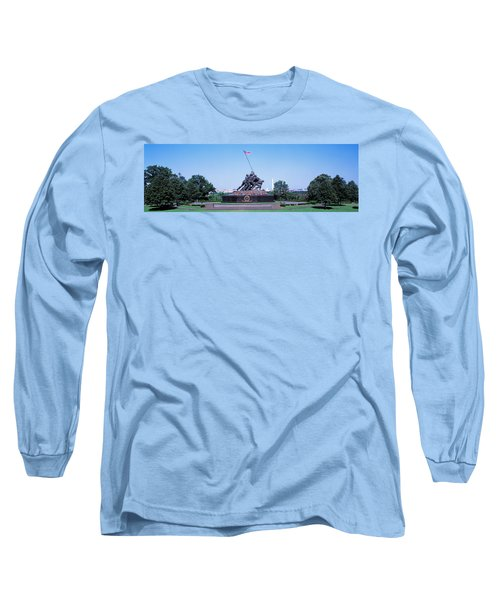 War Memorial With Washington Monument Long Sleeve T-Shirt by Panoramic Images
