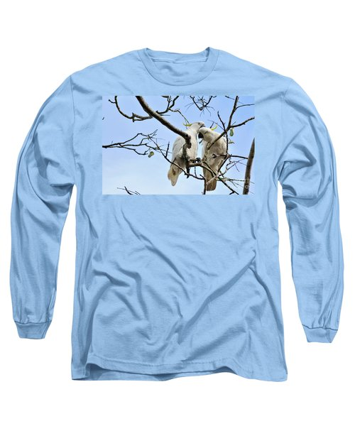 Sulphur Crested Cockatoos Long Sleeve T-Shirt by Kaye Menner