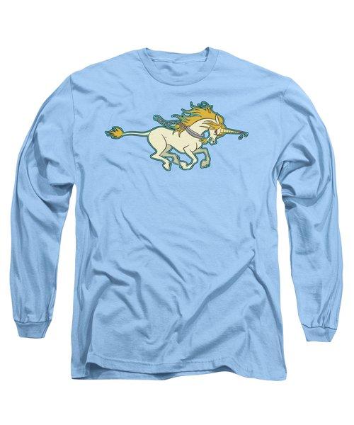 Charging Unicorn Long Sleeve T-Shirt by J L Meadows