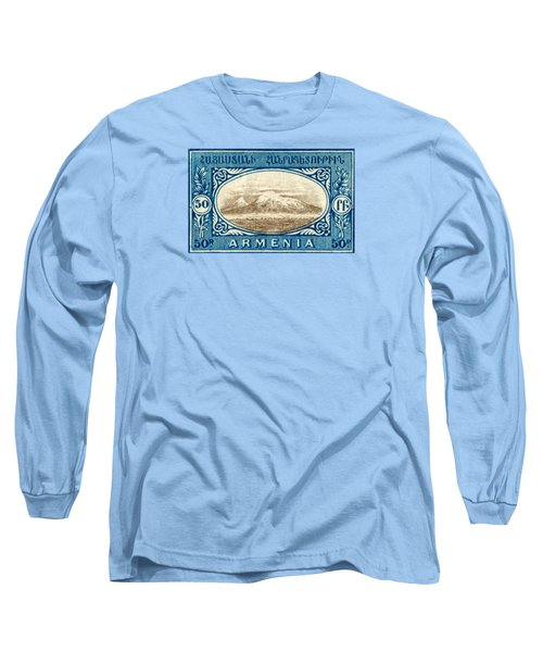 1920 Armenian Mount Ararat Stamp Long Sleeve T-Shirt by Historic Image
