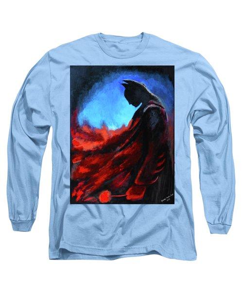 Batman's Mercy Long Sleeve T-Shirt by Brandy Nicole Neal
