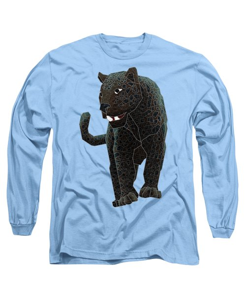 Black Panther Long Sleeve T-Shirt by Dusty Conley