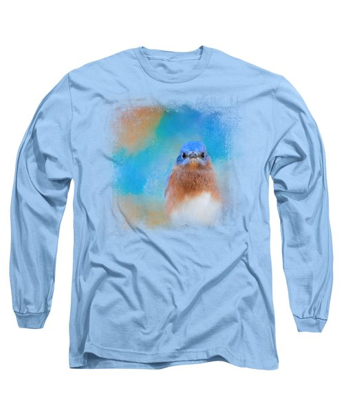 Blue Is Beautiful Long Sleeve T-Shirt by Jai Johnson