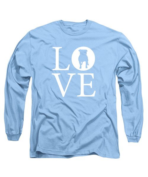 Bulldog Love Long Sleeve T-Shirt by Nancy Ingersoll