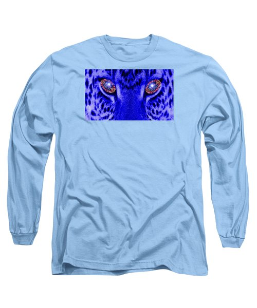 Eyes Of The Leppard Long Sleeve T-Shirt by Luisa Gatti