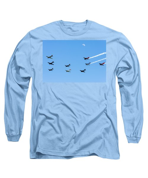 Fly Me To The Moon Long Sleeve T-Shirt by Marco Oliveira