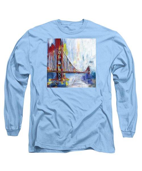 Golden Gate Bridge 218 1  Long Sleeve T-Shirt by Mawra Tahreem