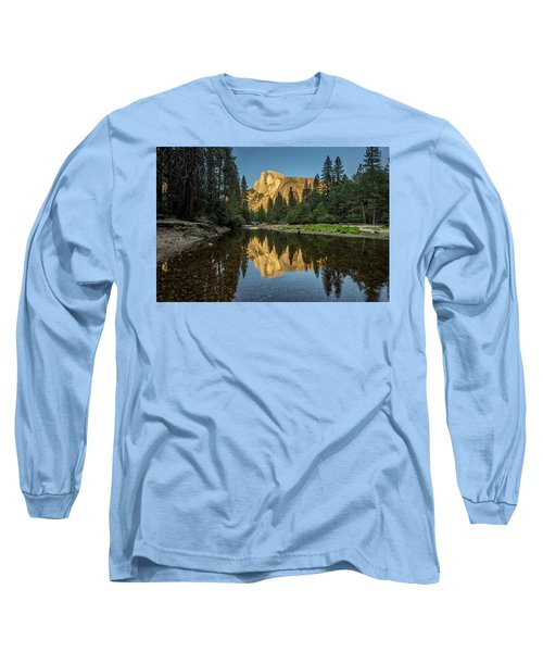 Half Dome From  The Merced Long Sleeve T-Shirt by Peter Tellone