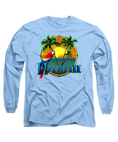 Hawaii Parrot Long Sleeve T-Shirt by Chris MacDonald