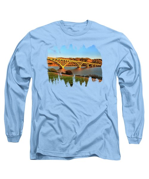 Historic Patterson Bridge Gold Beach Long Sleeve T-Shirt by Thom Zehrfeld
