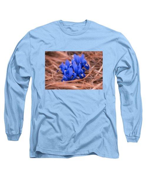 Irises Long Sleeve T-Shirt by Konstantin Sevostyanov
