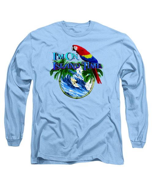 Island Time Surfing Long Sleeve T-Shirt by Chris MacDonald