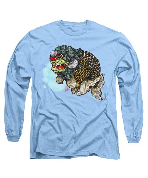 Lion Head Ranchu Long Sleeve T-Shirt by Shih Chang Yang