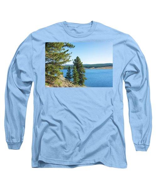 Meadowlark Lake And Trees Long Sleeve T-Shirt by Jess Kraft