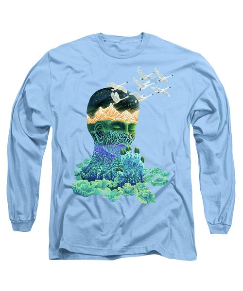 Meditation Long Sleeve T-Shirt by Ruta Dumalakaite