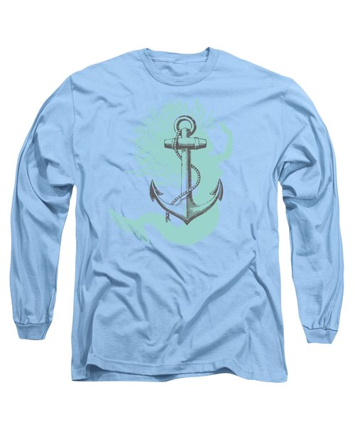Mermaid And Anchor Long Sleeve T-Shirt by Sandra McGinley