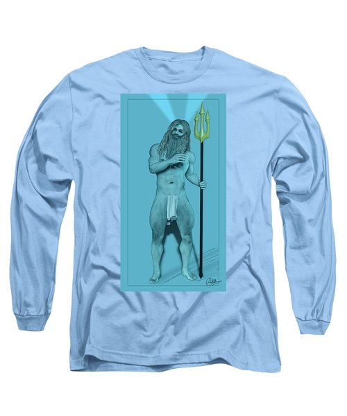 Blue Neptune Long Sleeve T-Shirt by Quim Abella