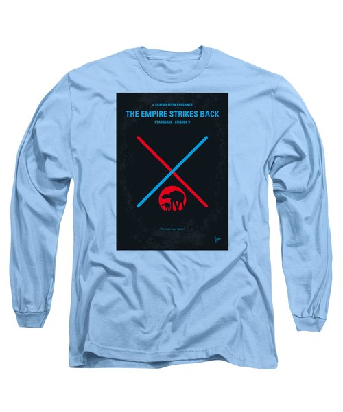 No155 My Star Wars Episode V The Empire Strikes Back Minimal Movie Poster Long Sleeve T-Shirt by Chungkong Art