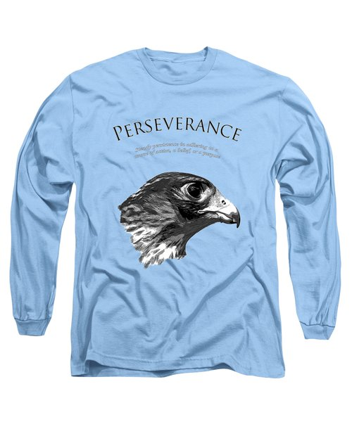 Peregrine Falcon Tashunka Long Sleeve T-Shirt by Christina Rollo