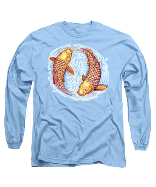 Pisces Long Sleeve T-Shirt by Rebecca Wang