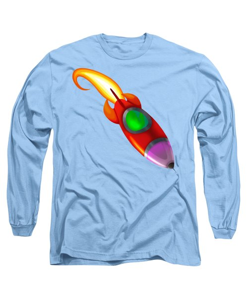 Red Rocket Long Sleeve T-Shirt by Brian Kemper