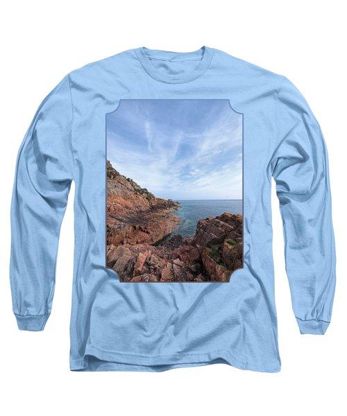 Rocky Ocean Inlet - Jersey Long Sleeve T-Shirt by Gill Billington