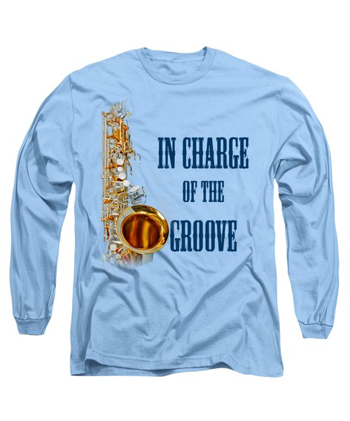 Saxophones In Charge Of The Groove 5532.02 Long Sleeve T-Shirt by M K  Miller
